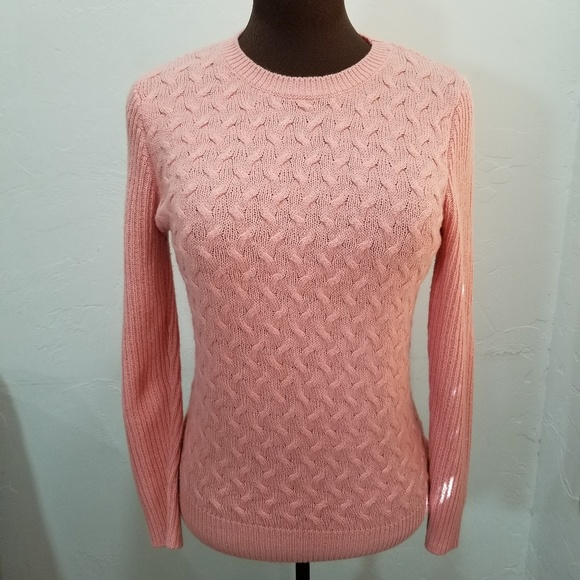 Pink Cable Knit Sweater Soft Comfortable Pretty